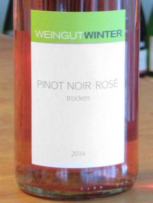 weingut winter pinot noir rosé 2014