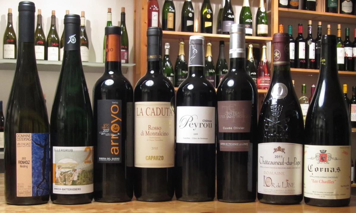 Weinprobe der Lenau Weinhandlung: Weine zum Schenken und Schenlen lassen
