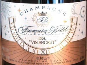 "Etikett des Champgane ""DIS"" von Francoise Bedel"