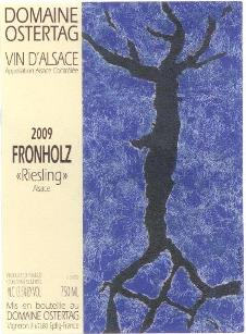 Etikett FRONHOLZ Riesling 2009, Domaine Ostertag
