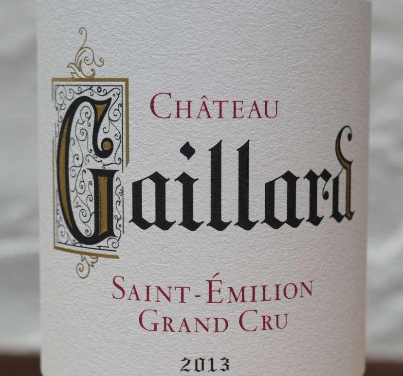château gaillard 2013 saint emilion grand cru