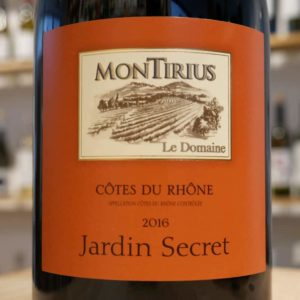 """Jardin Secret"" Côtes du Rhône 2016"