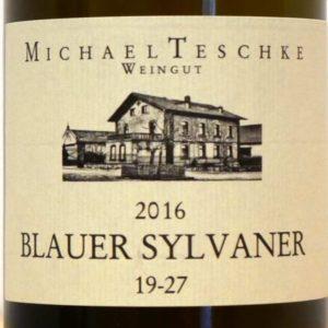 """Blauer Sylvaner 19-27 (vormals: """"Von der Dünnbach"""") von Weingut Michael Teschke"""