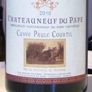 Châteauneuf-du-Pape Cuvée Paule Courtil von Domaine L'Or de Line