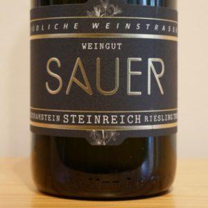 Riesling Steinreich 2019 von Weingut Familie Sauer