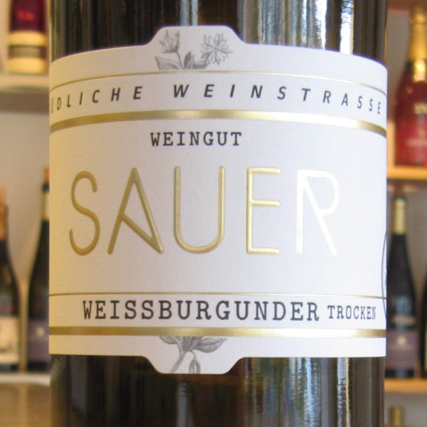 Weissburgunder Weingut Sauer Pfalz
